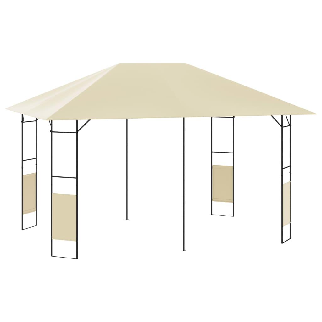 vidaXL Pavilion de grădină, crem, 4 x 3 m, 160 g/m² poza 2021 vidaXL