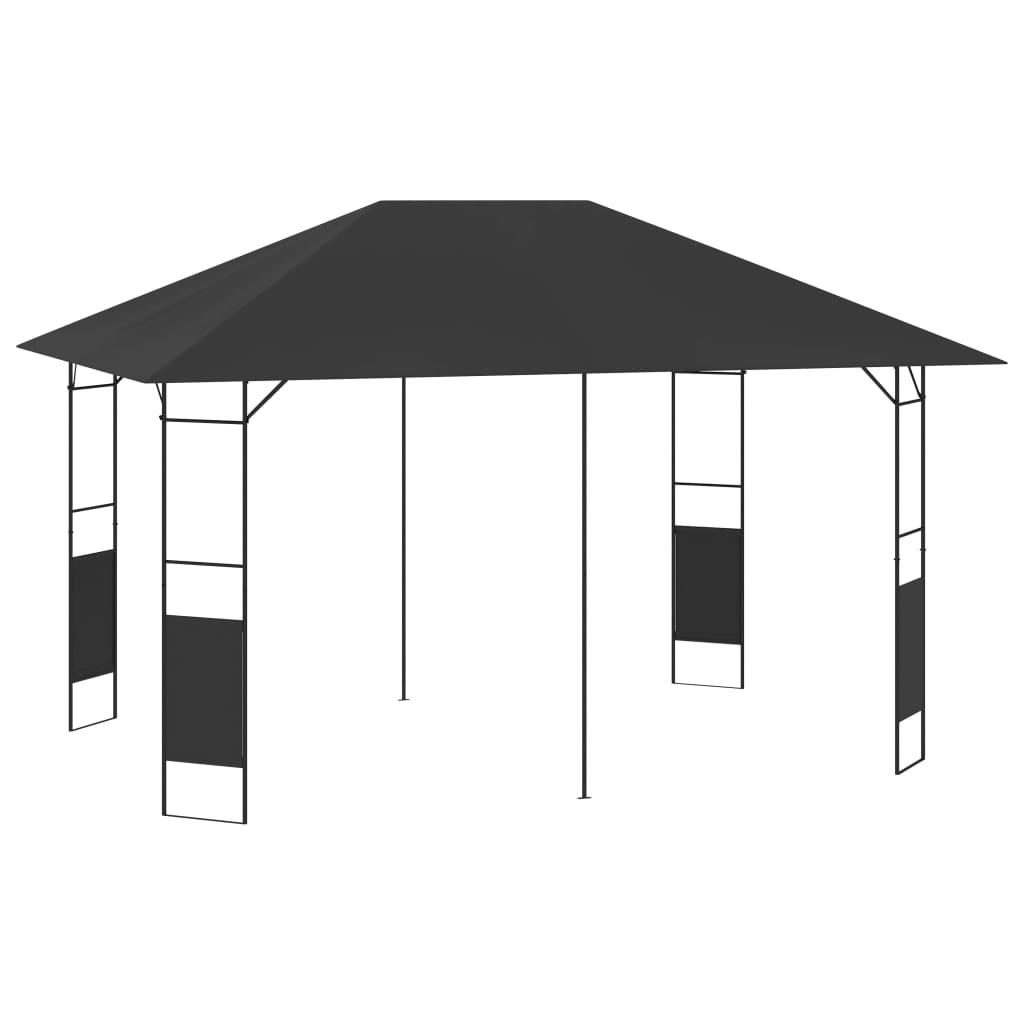 vidaXL Pavilion de grădină, antracit, 4 x 3 m, 160 g/m² poza 2021 vidaXL