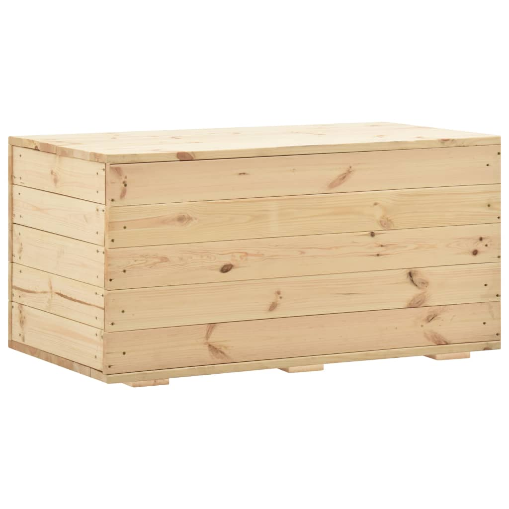 Úložný box 100 x 54 x 50,7 cm masivní borové dřevo