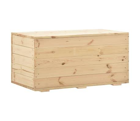 vidaXL Opbergbox 100x54x50,7 cm massief grenenhout