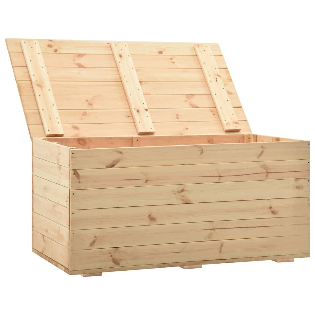 Opbergbox 120x63x50,7 cm massief grenenhout