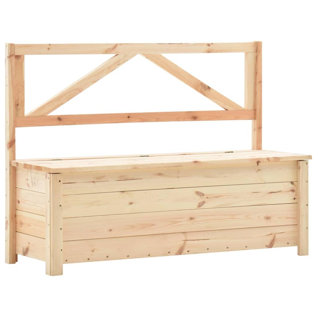 vidaXL Úložná lavice 120 cm masivní borové dřevo