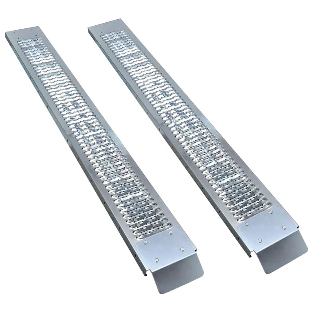 vidaXL Rampe de încărcare din oțel, 2 buc., 450 kg poza 2021 vidaXL
