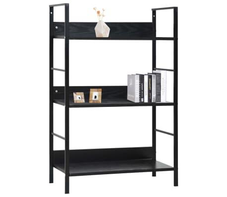 vidaXL Bibliothèque à 3 niveaux Noir 60x27,6x90,5 cm Aggloméré