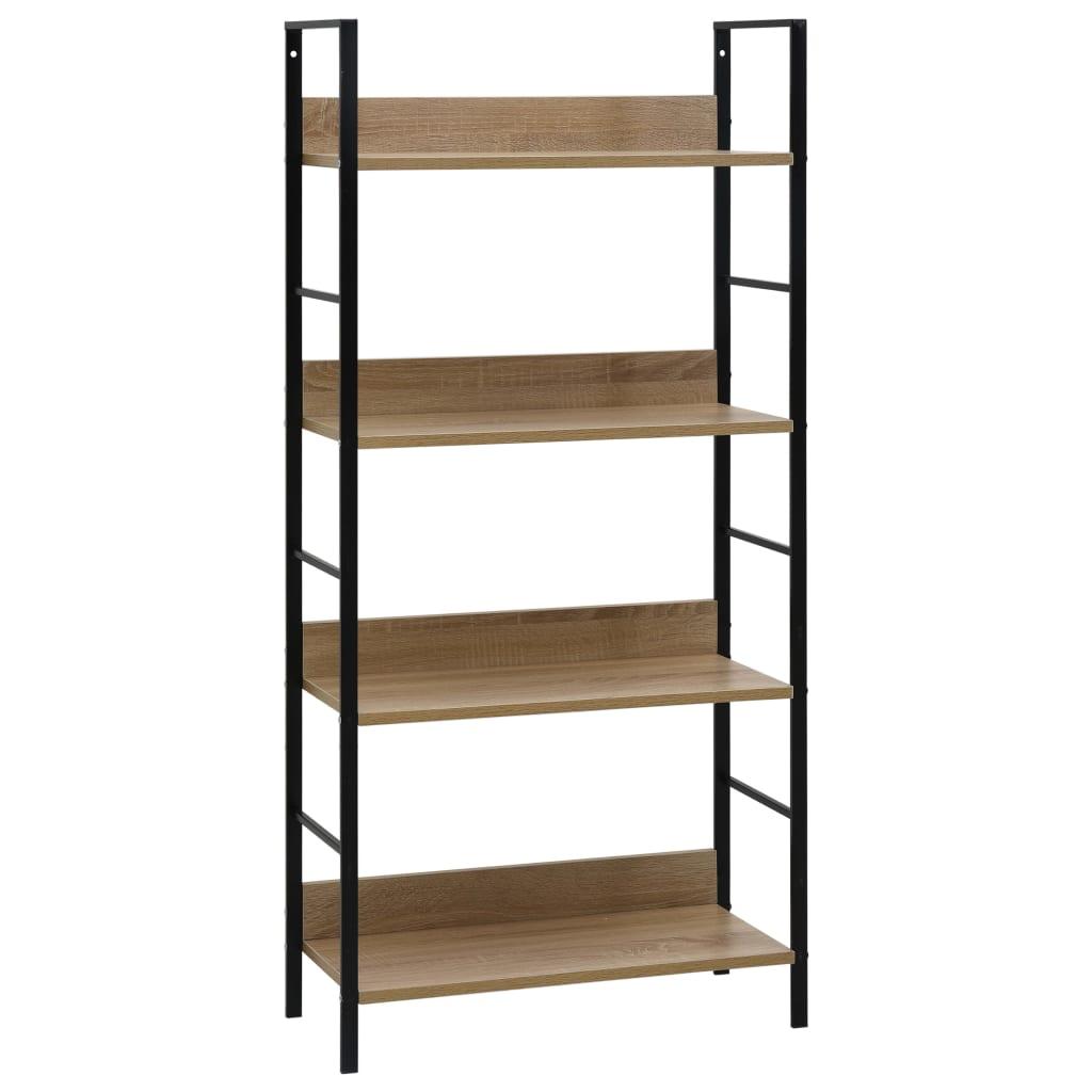 vidaXL Etajeră cărți cu 4 rafturi, stejar, 60 x 27,6 x 124,5 cm, PAL vidaxl.ro