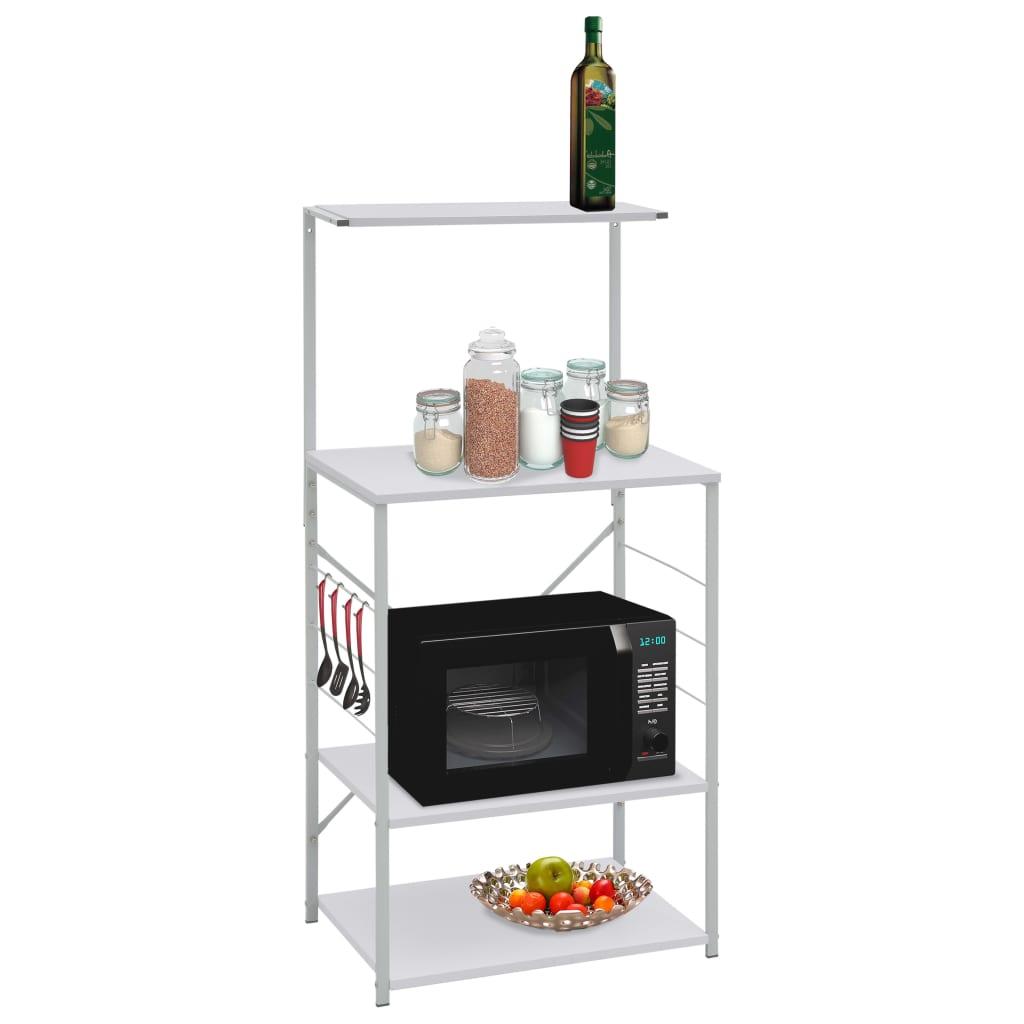 vidaXL Dulap pentru cuptor de microunde, alb, 60 x 39,6 x 123 cm, PAL poza vidaxl.ro