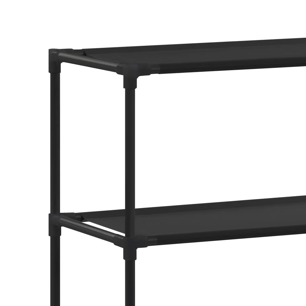 vidaXL Stalak iznad perilice rublja s 3 police crni 69 x 28 x 169 cm