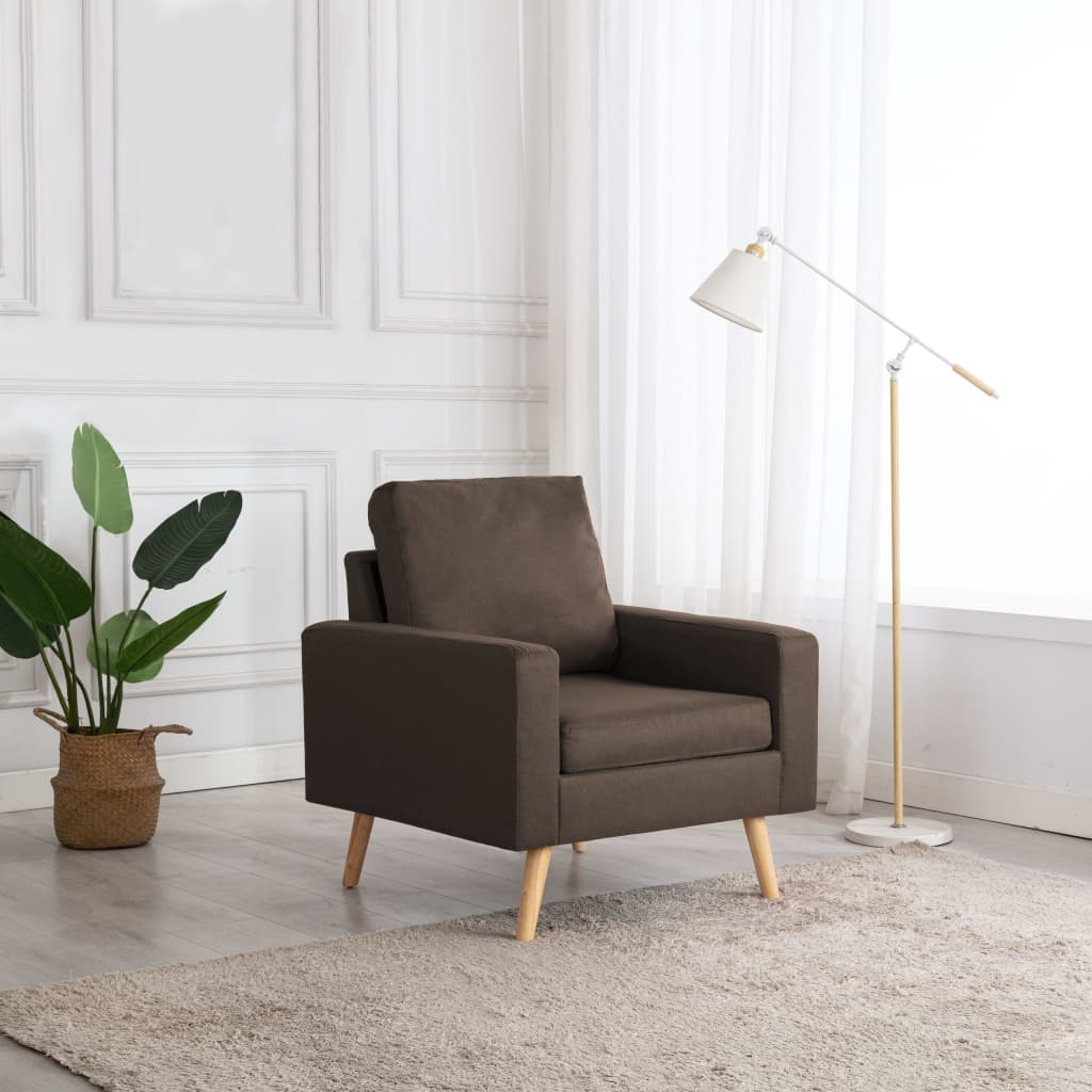 vidaXL lænestole stof brun