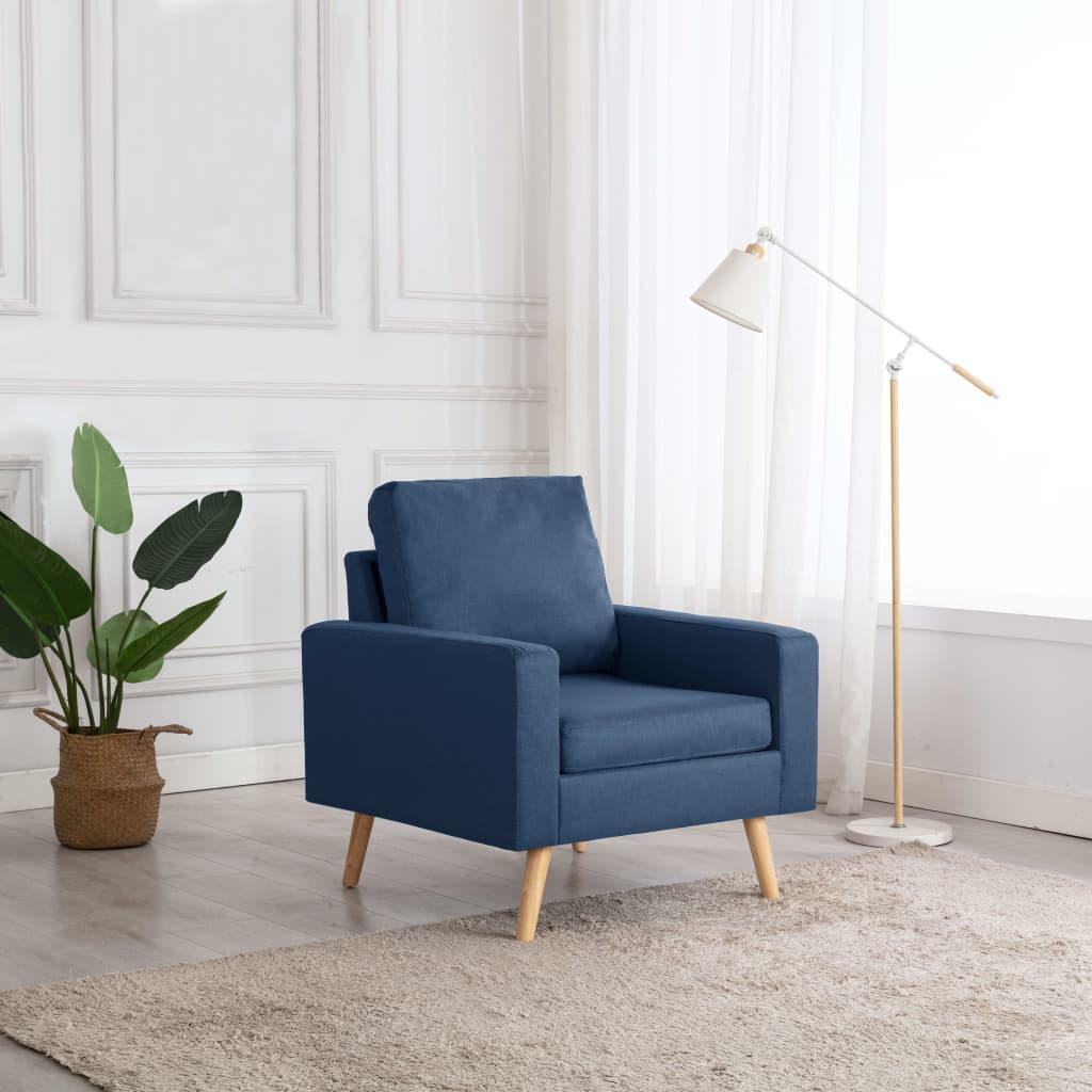 vidaXL Fotoliu, albastru, material textil poza vidaxl.ro