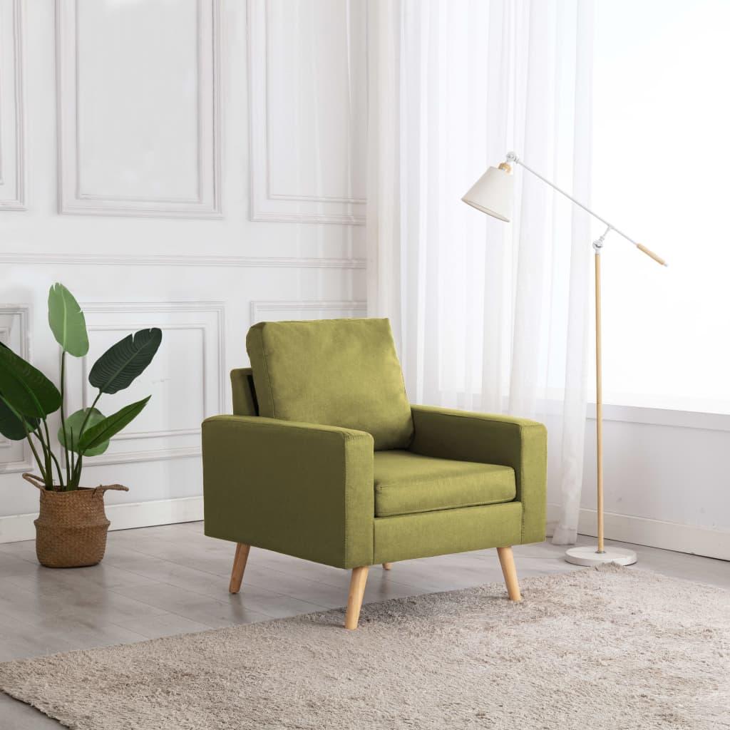 vidaXL Fotoliu, verde, material textil vidaxl.ro