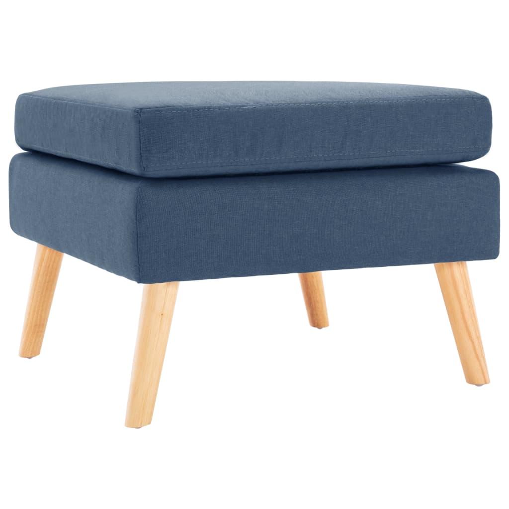 vidaXL Taburet, albastru, material textil imagine vidaxl.ro
