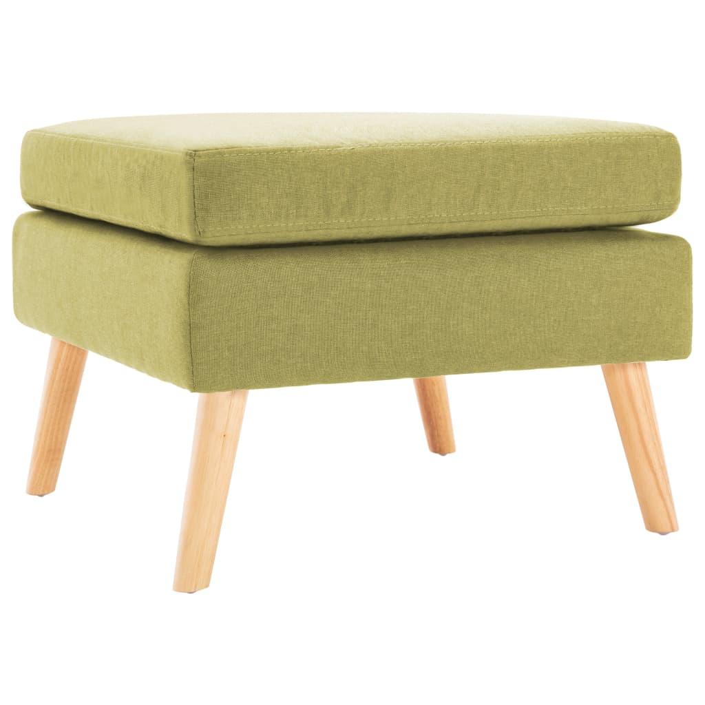 vidaXL Taburet, verde, material textil vidaxl.ro