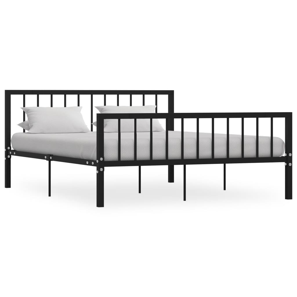 vidaXL Bedframe metaal zwart 160x200 cm