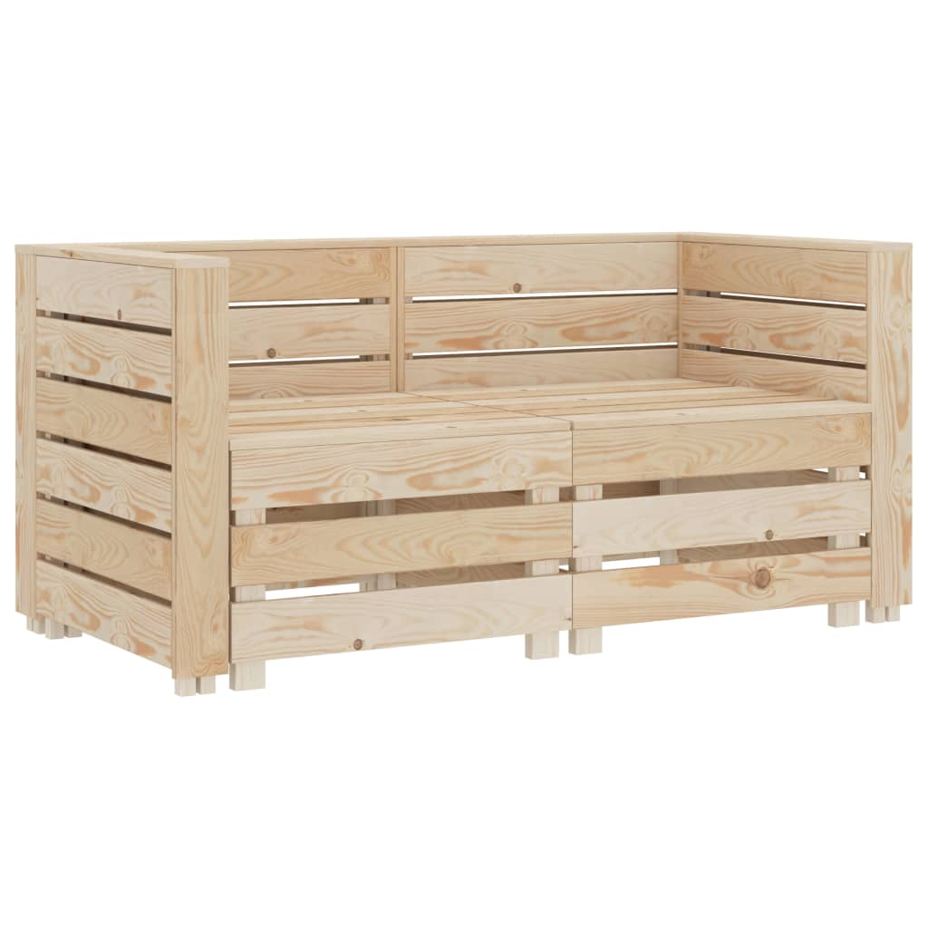 vidaXL Canapea din paleți de grădină cu 2 locuri, lemn vidaxl.ro