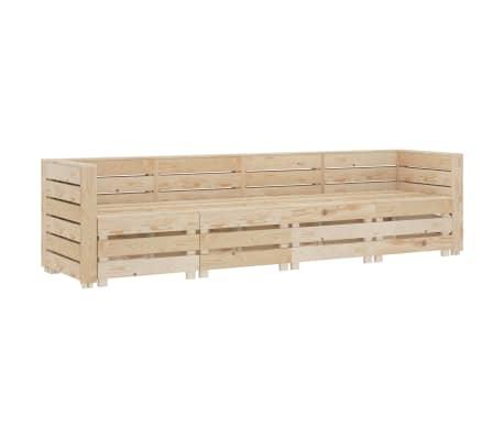 vidaXL Garden 4-Seater Pallet Sofa Wood