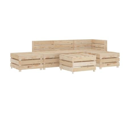 vidaXL 6 Piece Garden Lounge Set Pallets Wood