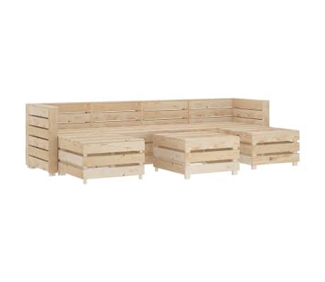 vidaXL 7 Piece Garden Lounge Set Pallets Wood