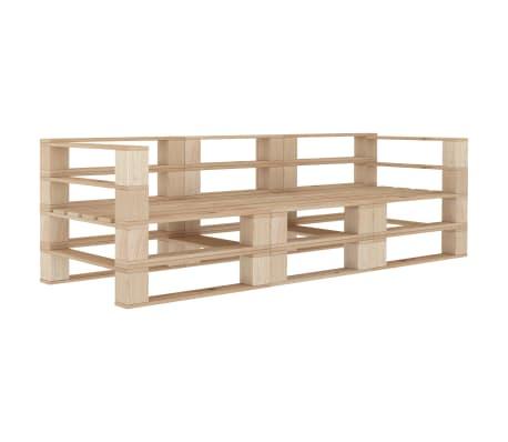 vidaXL Garden Pallet Sofa 3-Seater Wood