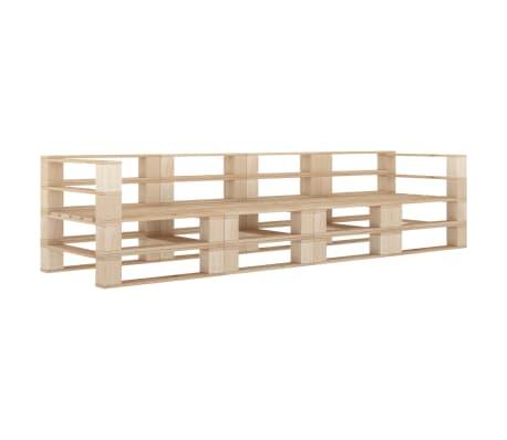 vidaXL Garden Pallet Sofa 4-Seater Wood