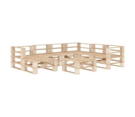 vidaXL 8 Piece Garden Lounge Set Pallets Wood