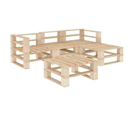 vidaXL 5 Piece Garden Lounge Set Pallets Wood