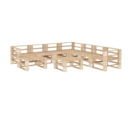 vidaXL 9 Piece Garden Lounge Set Pallets Wood