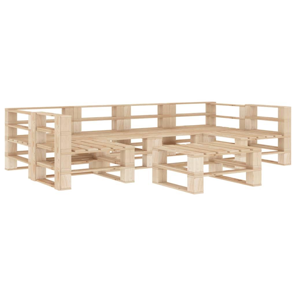 vidaXL Set mobilier de grădină din paleți, 7 piese, lemn vidaxl.ro