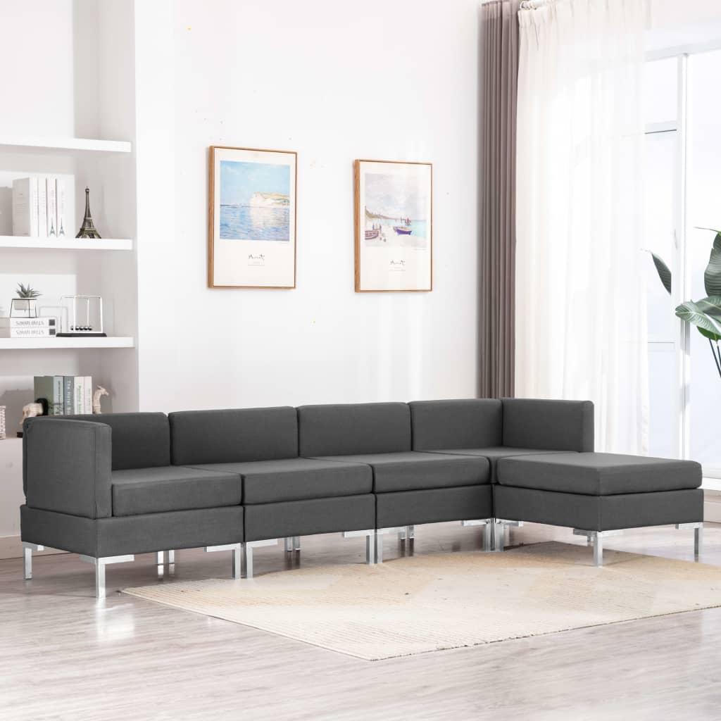 Canapé Gris Tissu Confort