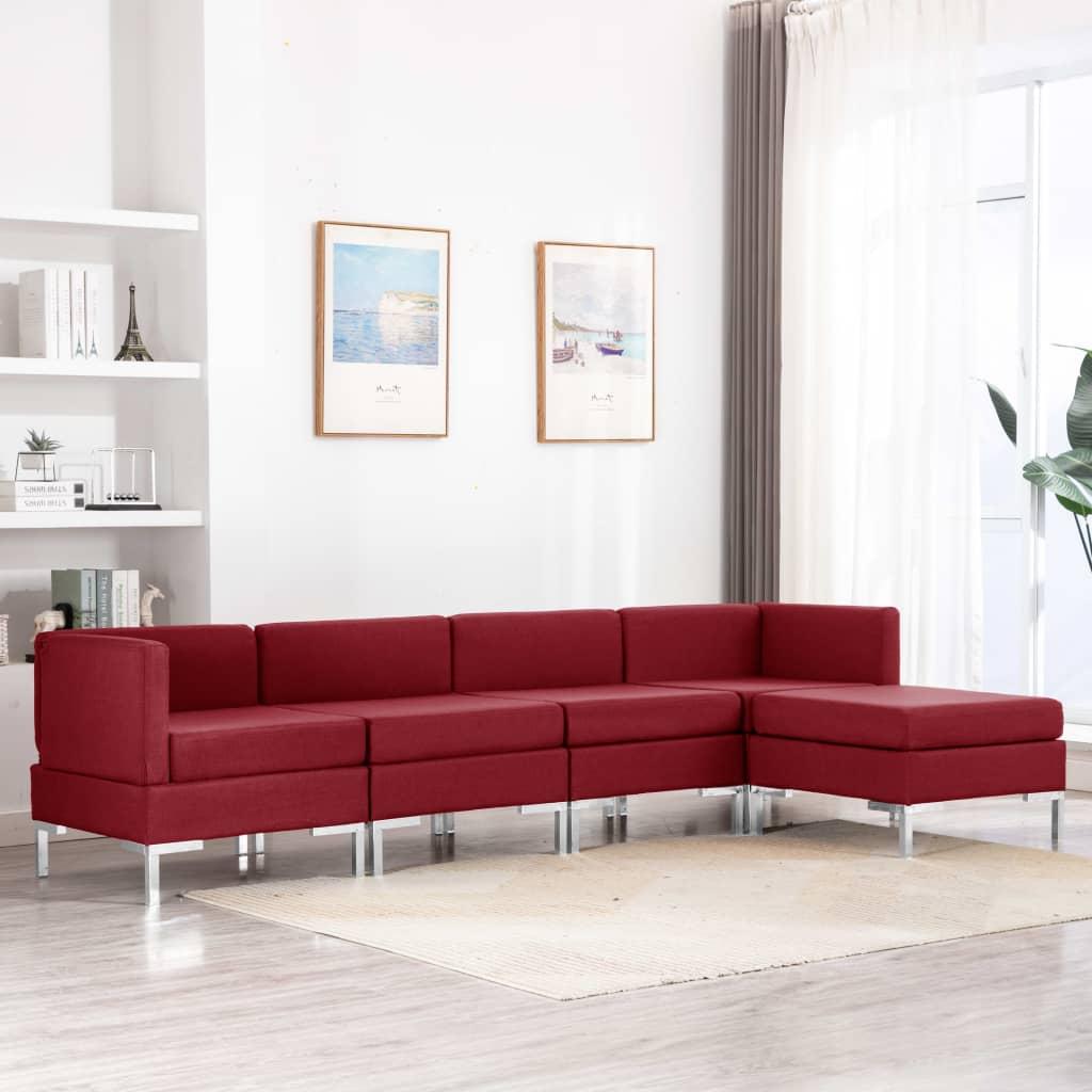 Canapé Rouge Tissu Confort
