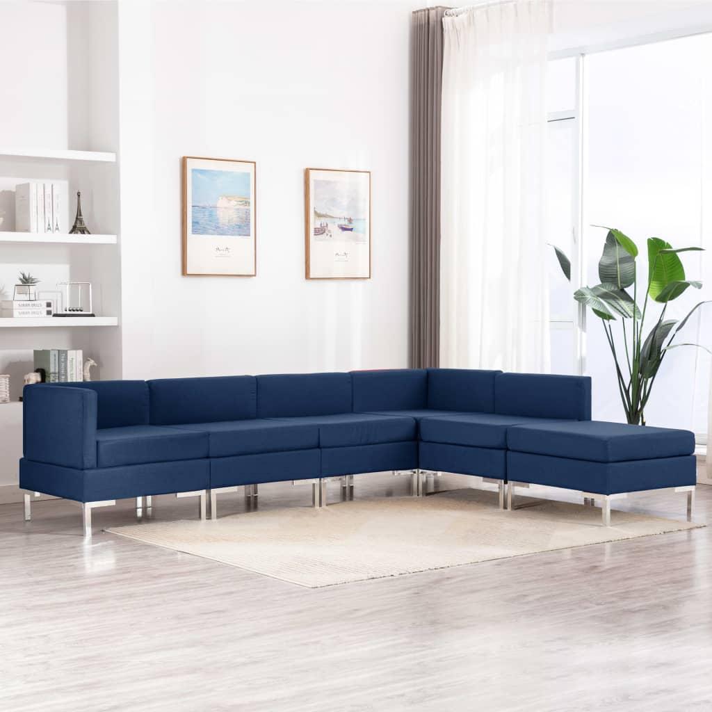 Canapé Bleu Tissu Confort