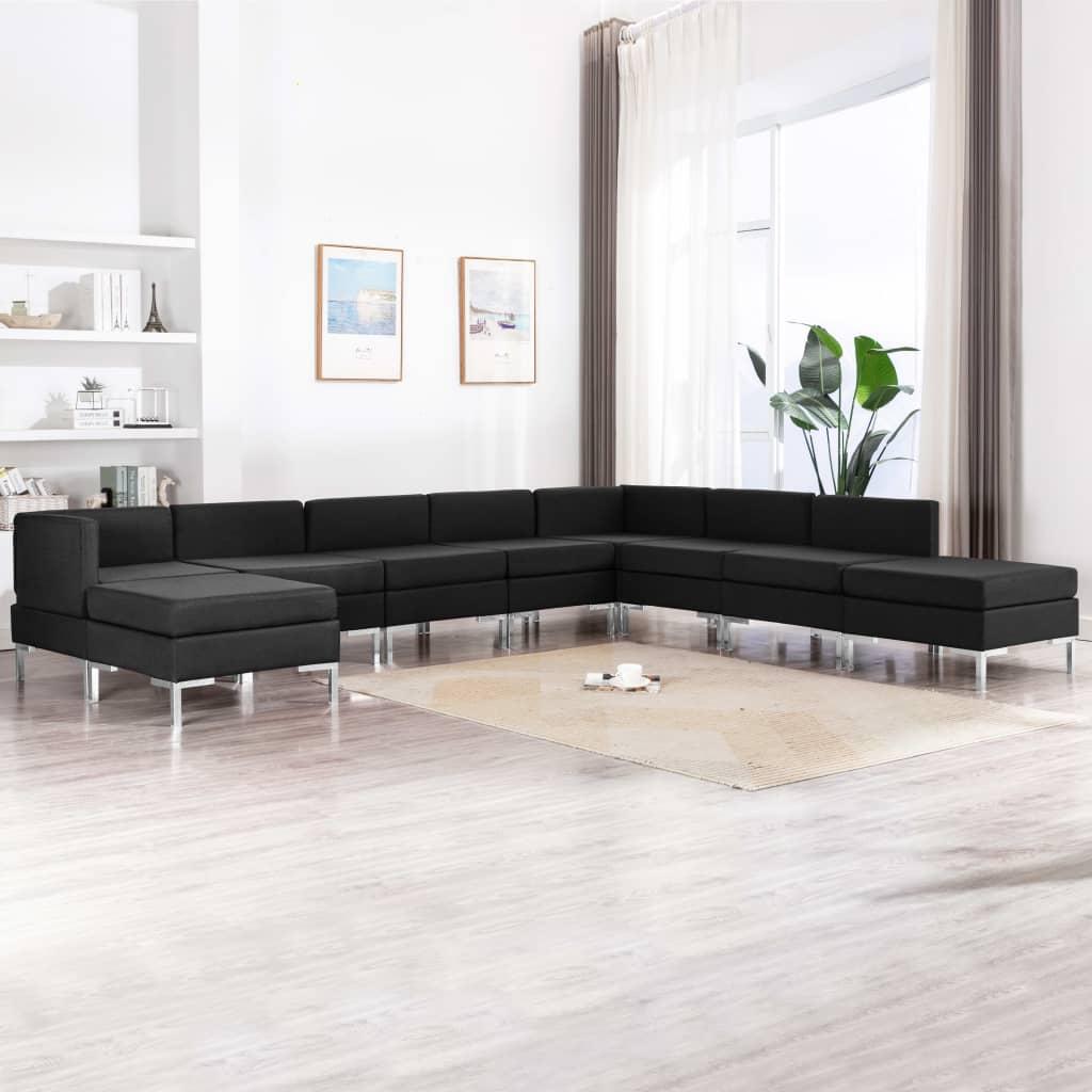 Canapé Noir Tissu Confort