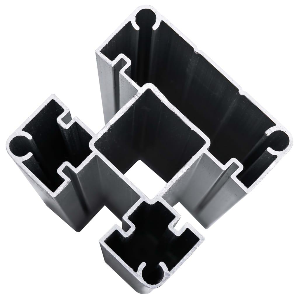 vidaXL Schutting 526x106 cm HKC grijs