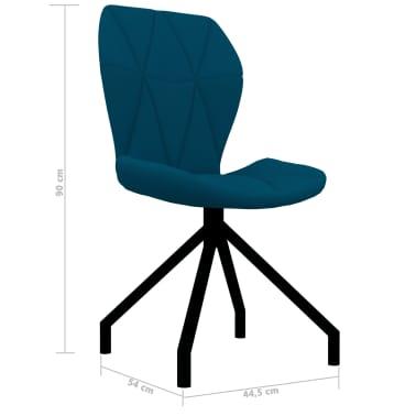 vidaXL Chaises de salle à manger 4 pcs Bleu Similicuir