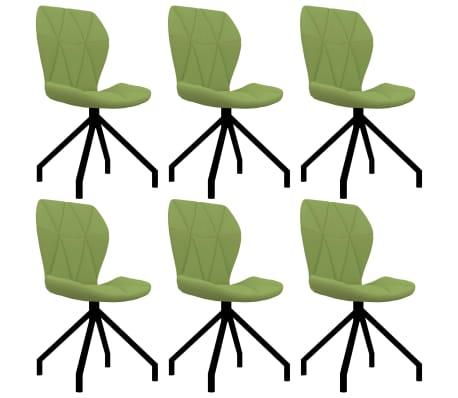 vidaXL Chaises de salle à manger 6 pcs Vert Similicuir