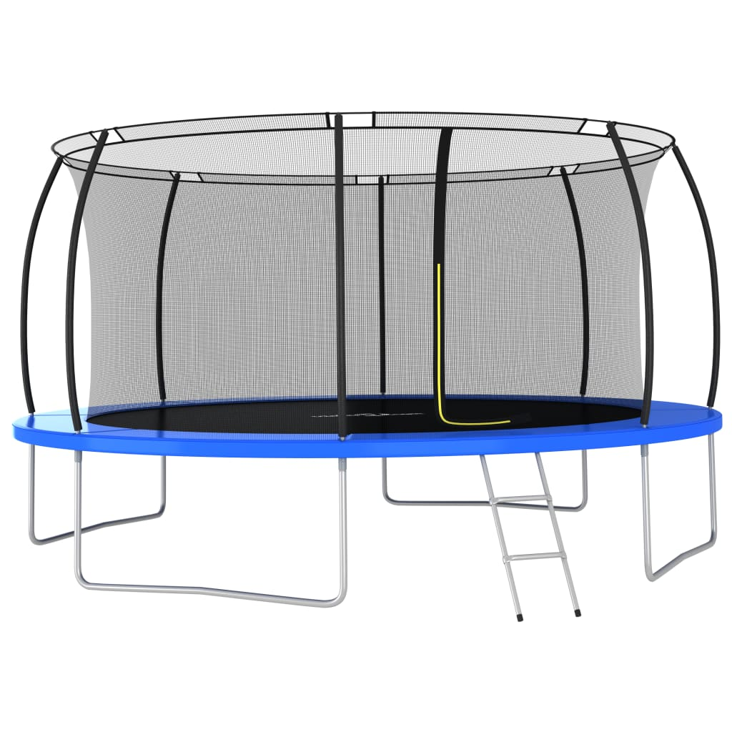 vidaXL Set trambulină rotundă, 460 x 80 cm, 150 kg imagine vidaxl.ro