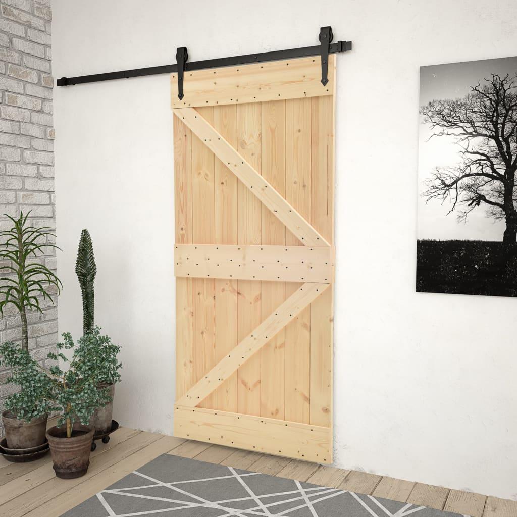 vidaXL Ușă, 80 x 210 cm, lemn masiv de pin imagine vidaxl.ro