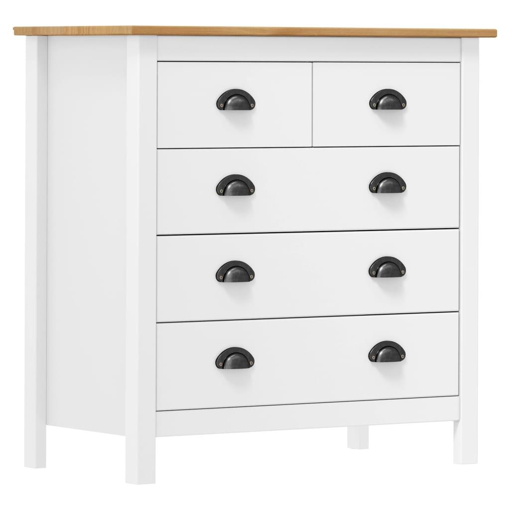 vidaXL Servantă Hill Range, alb, 79 x 40 x 80 cm, lemn masiv de pin poza 2021 vidaXL