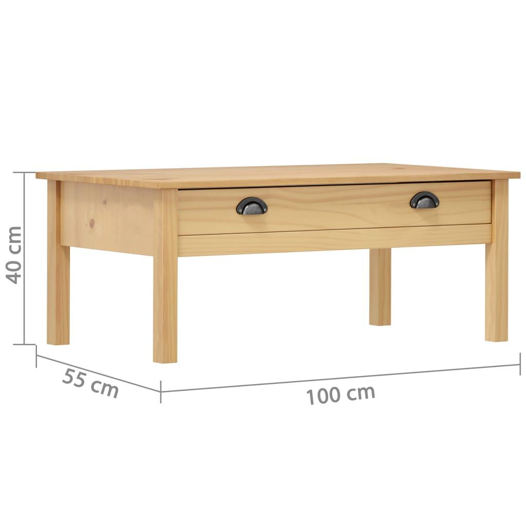 vidaXL Salontafel Hill Range 100x55x40 cm grenenhout honingbruin