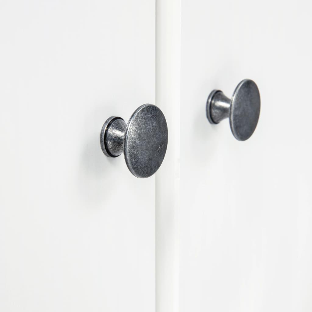 vidaXL Kledingkast 3 deuren Hill Range 127x50x170 cm grenenhout wit