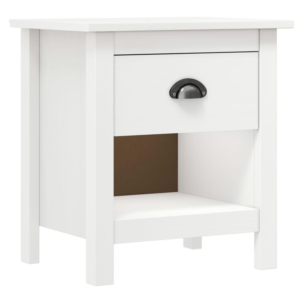 Noční stolek Hill Range 46 x 35 x 49,5 cm masivní borové dřevo