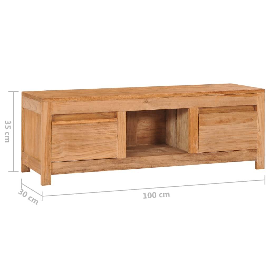 vidaXL Tv-meubel 100x30x35 cm massief teakhout