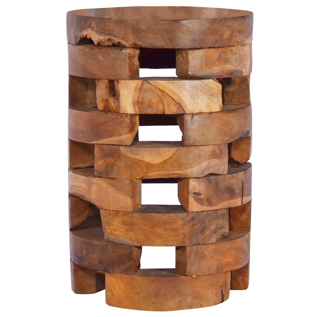 vidaXL Noptieră, 30 x 30 x 45 cm, lemn masiv de tec poza 2021 vidaXL