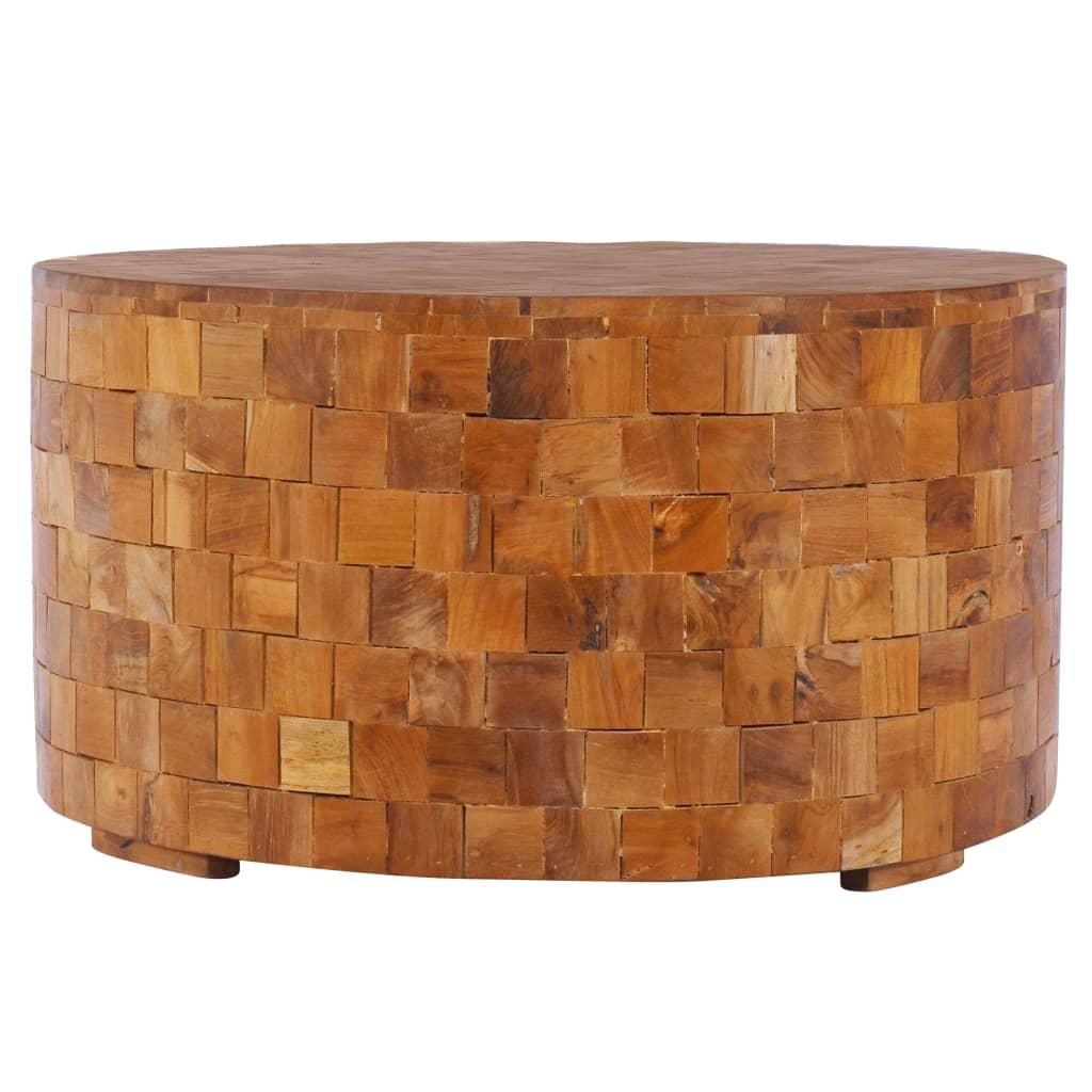vidaXL Măsuță de cafea, 60 x 60 x 35 cm, lemn masiv de tec poza vidaxl.ro