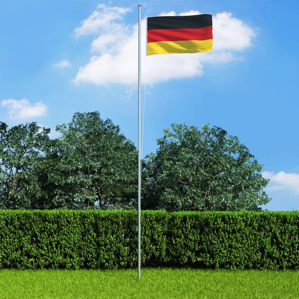 vidaXL Německá vlajka a stožár hliník 6,2 m