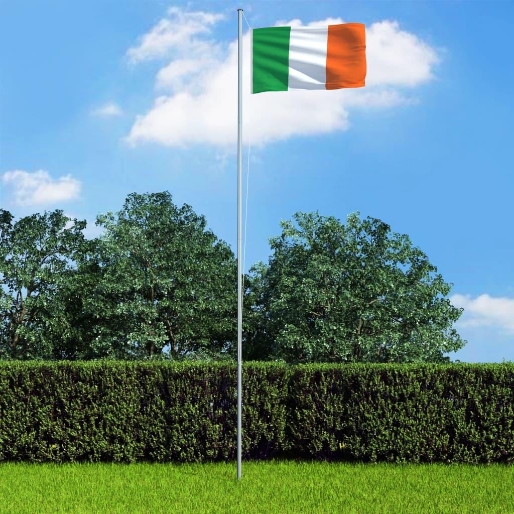 Iirimaa lipp ja lipumast, al..