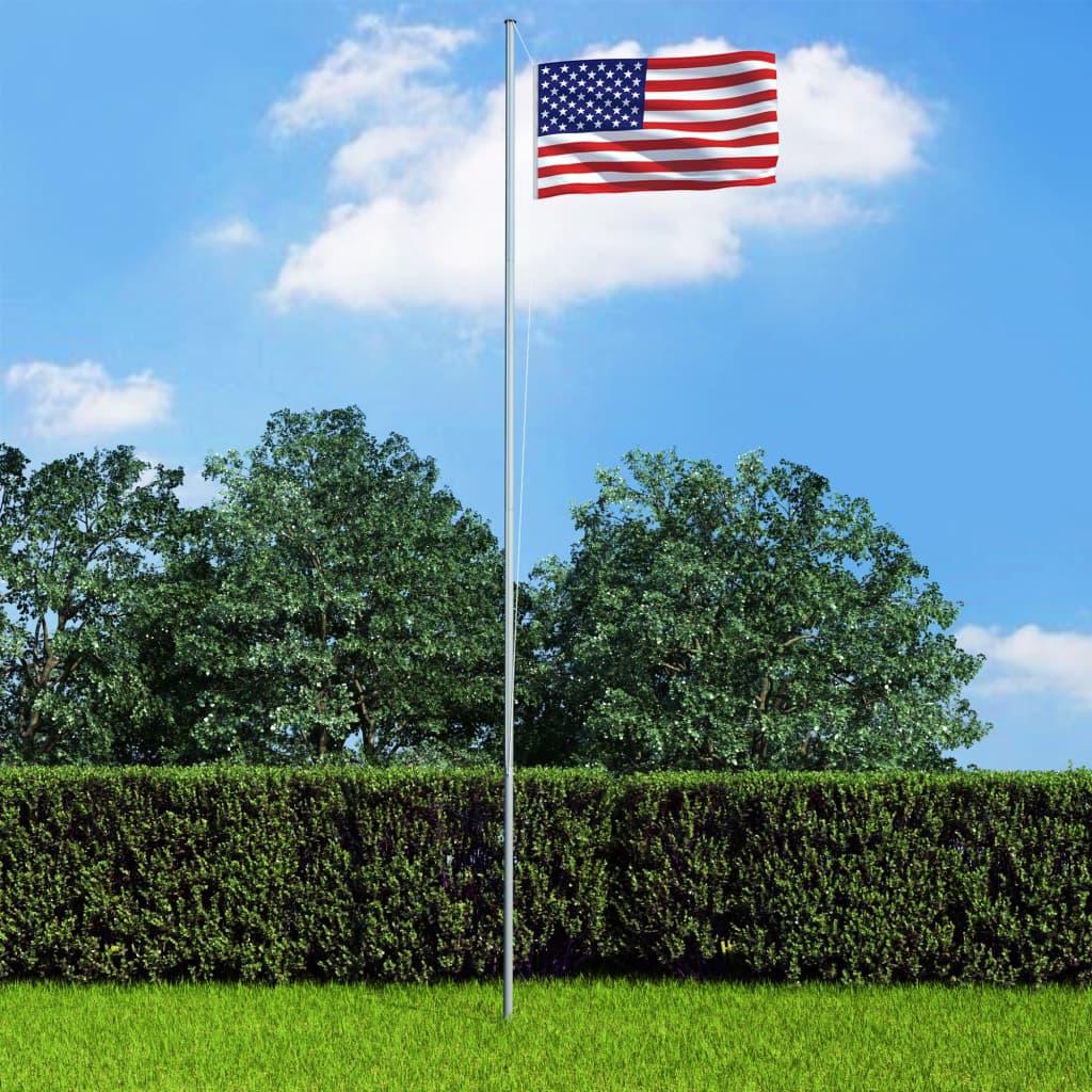 USA lipp ja lipumast, alumii..