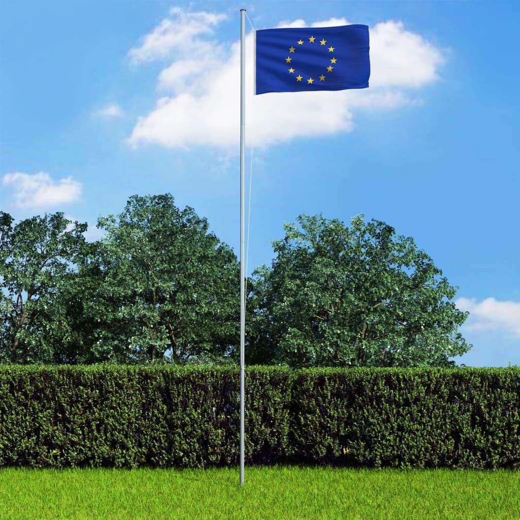 Vlajka Evropské unie a stožár hliník 6,2 m