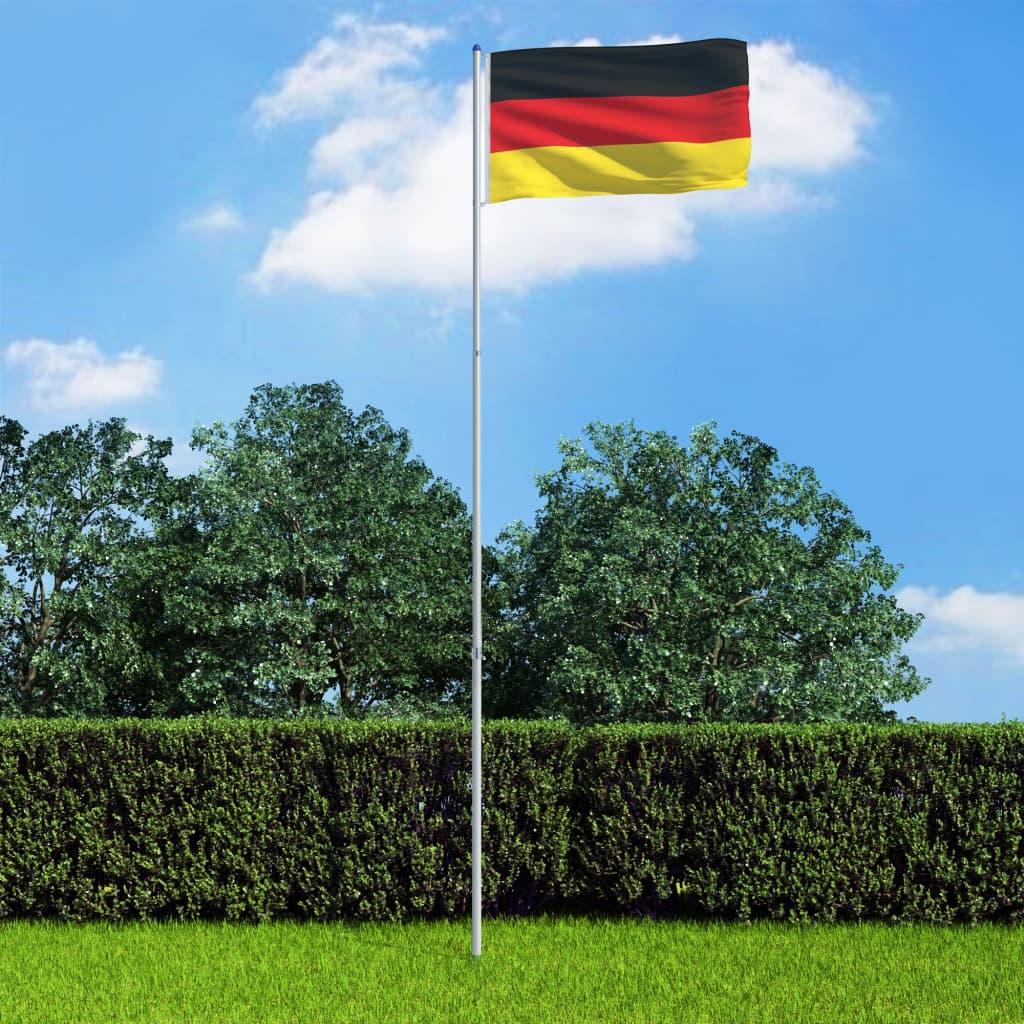 vidaXL Německá vlajka a stožár hliník 6 m