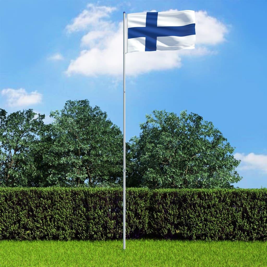 Soome lipp ja lipumast, alum..