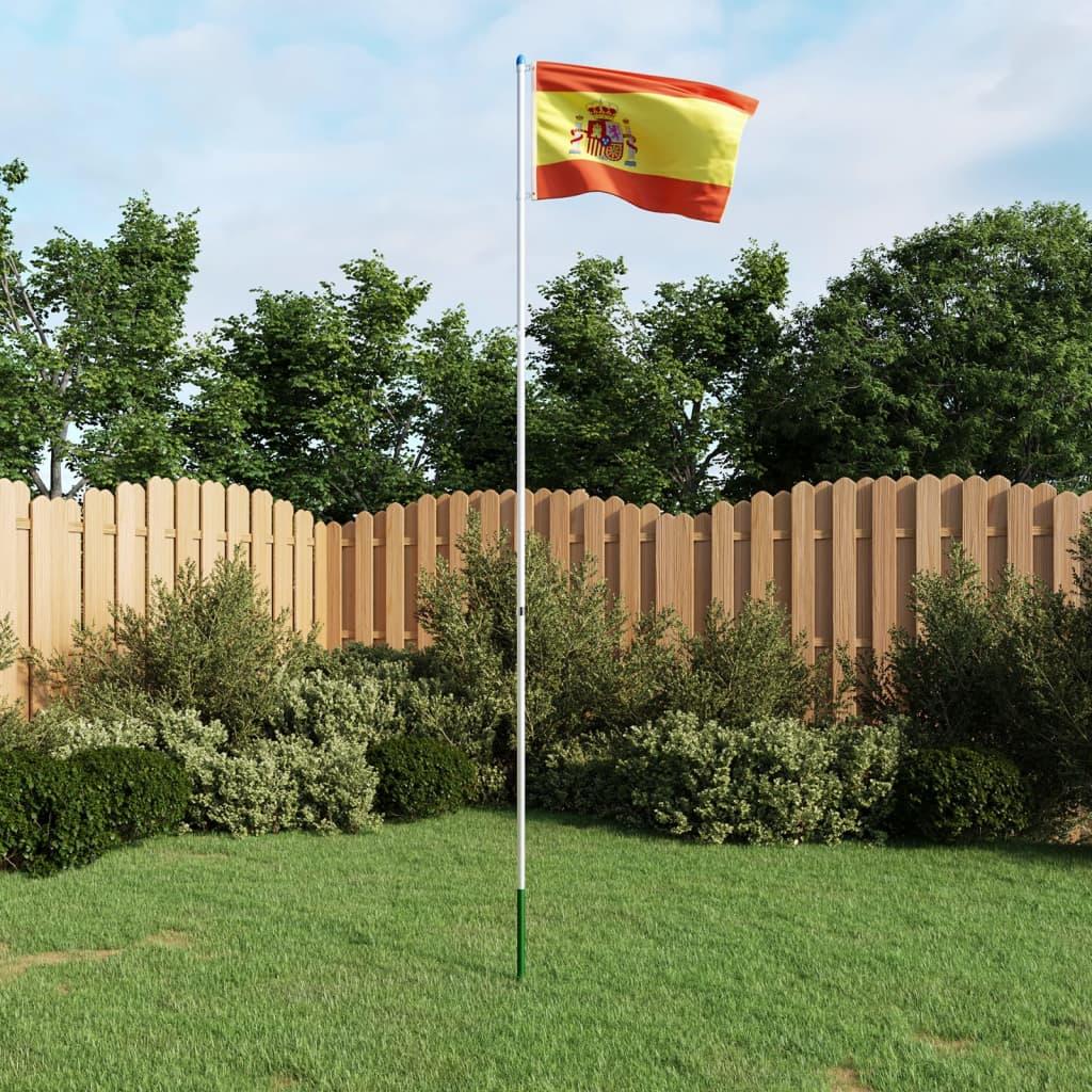 vidaXL Španělská vlajka a stožár hliník 6 m